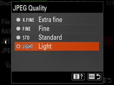 Nouveaux fichiers JPEG « légers »