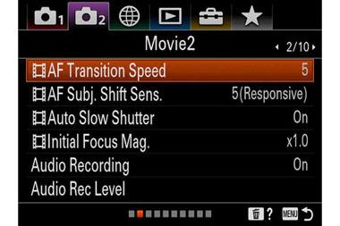 Optimisez le paramètre AF Subject Shift Sensitivity